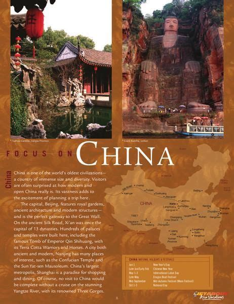china travel brochure design inspirations china travel