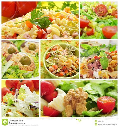 different pasta salads salad collage stock photo image 40011982