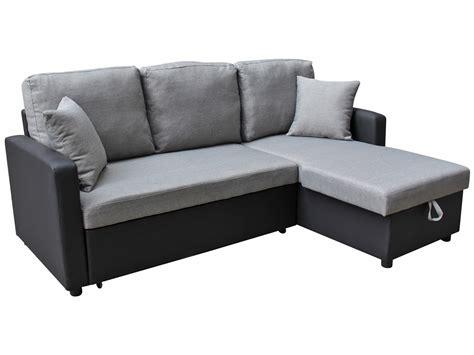 vente privée canapé canapé d 39 angle tissu convertible quot allen quot 4 places gris