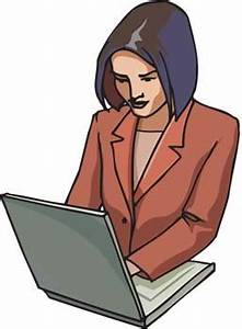 Office woman working her job clip arts, free clip art ...