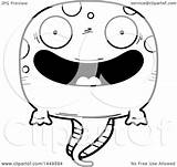 Cartoon Tadpole Pollywog Happy Lineart Character Illustration Mascot Royalty Thoman Cory Graphic Clipart Vector sketch template