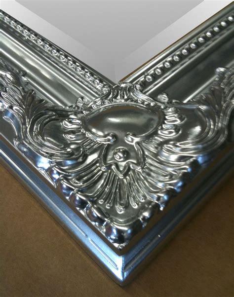 Silver Wall Mirrors Decorative - large metallic silver shabby chic ornate decorative