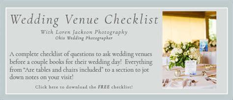 wedding venue checklist  questions