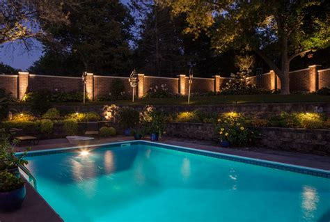outdoor lighting around pool nice landscape illumination 12 landscape lighting around