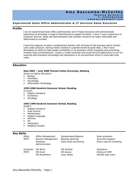 How To Write A Entry Level Resume by Write Entry Level Resume With No Work Experience In 2016 2017 Resume Format 2016