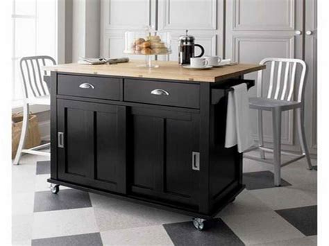 Kitchen Island With Seating And Wheels by Black Kitchen Islands With Wheels And Chair Decoration