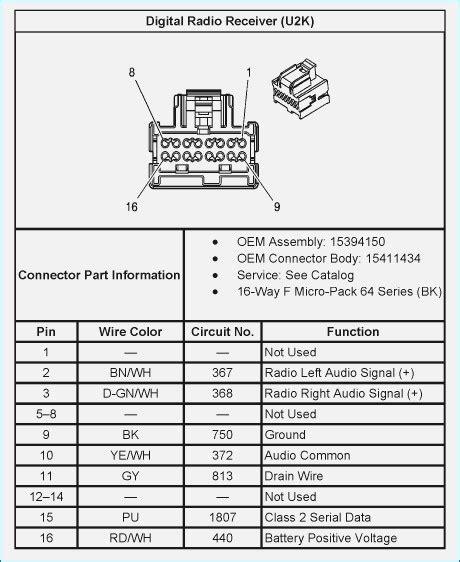 Chevy Silverado Stock Radio Wiring Diagram