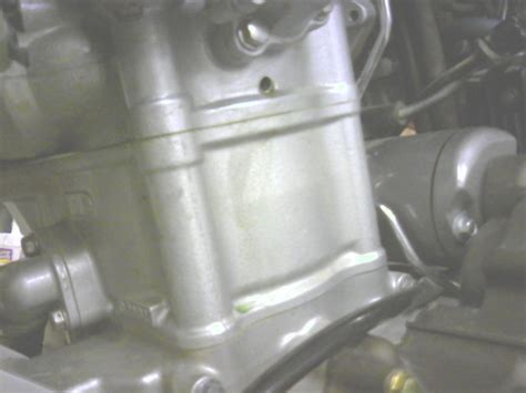coolant leak  weep hole  thermostat housing