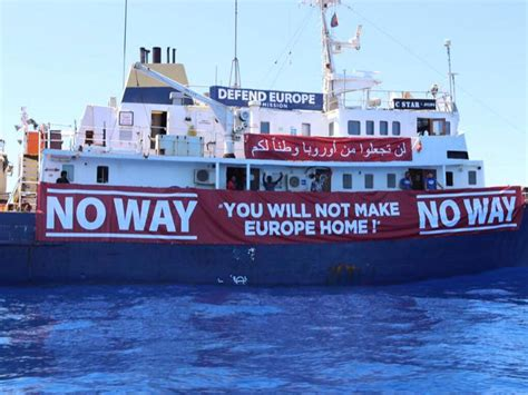 Aquarius Bateau Soros by Defend Europe Far Right Ship Stopping Refugees Ends Its
