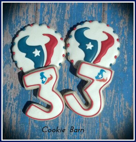 Nfl Houston Texans Football Decorated Cookies Cookie