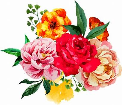 Flower Clipart Floral Peony Bouquet Painting Watercolor