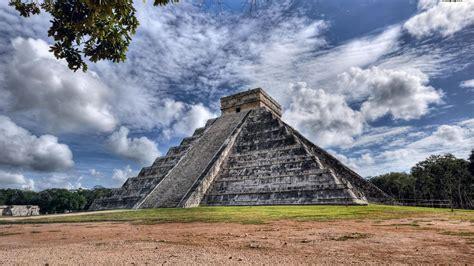 mexico mayan chichen itza pyramid wallpaper