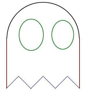 Pacman Ghost Eyes Template Mungfali