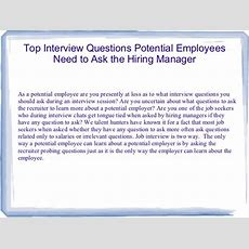Top Interview Questions Potential Employees Need To Ask