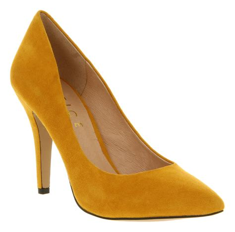 mustard colored shoes lyst office kandi court mustard suede in yellow