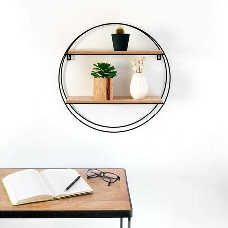 And with a variety of sizes, including shelves you can cut to the exact length you need, means you can find a shelf to match almost any. Truu Design Decorative Round Floating Wall Shelf | Walmart ...