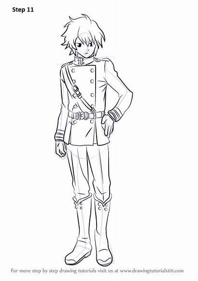 Seraph Owari Yuichiro Hyakuya Draw Drawing Step