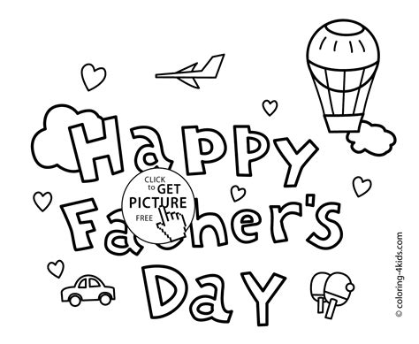 Funny Father's Day Coloring Pages For Kids, Fathers