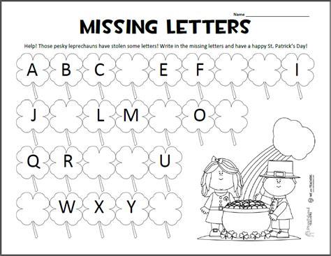 alphabet exercises