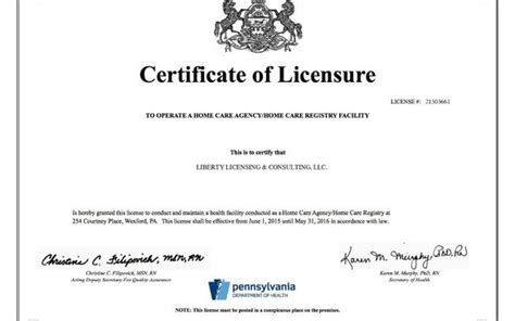 Brokers may represent several companies. Home Care Agency License (Business) by Liberty Licensing & Consulting, LLC. in Philadelphia, PA ...