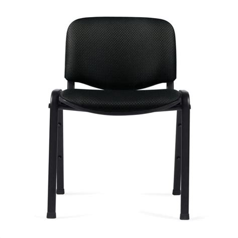 stacking armless guest stacking chair in black otg11704 ql10