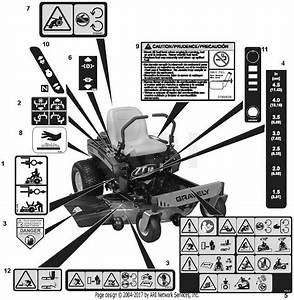 Gravely 915190  056000 -   Zt 34 Parts Diagram For Decals
