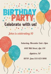Cocktail Party Invitations Templates Free Celebrate With Us Birthday Invitation Template Free