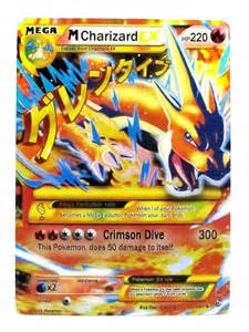 handmade pokemon card charizard mega ex
