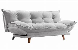 canape convertible design scandinave gris piece a vivre With canapé convertible design