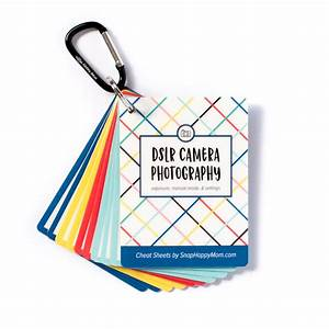 Dslr Photography Cheat Sheet Cards For Canon  Nikon And