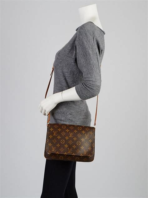 louis vuitton monogram canvas musette tango bag  long
