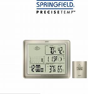 Springfield Precisetemp 91905 Weather Station Operation