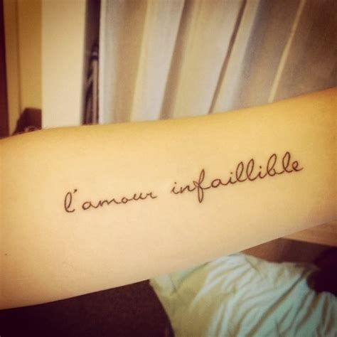 Phrase Courte Tatouage