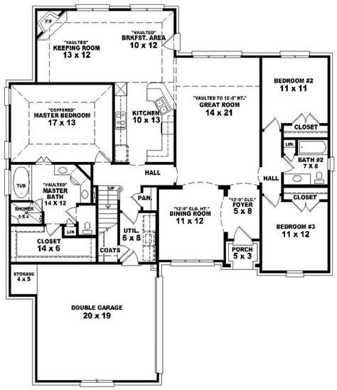 3 bed 2 bath floor plans 653887 3 bedroom 2 bath split floor plan house plans