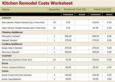 home remodel budget worksheet remodel quick tips