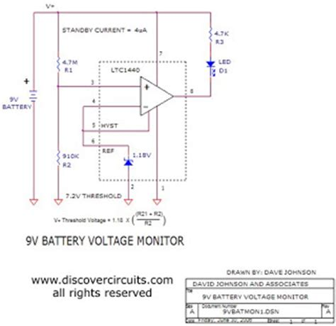 Electronic Parts Schematic Diagram Battery Voltage