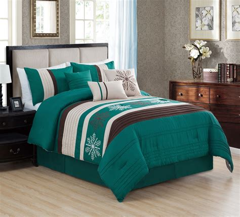 Teal Bedding by 11 Snowflake Teal Bed In A Bag Set