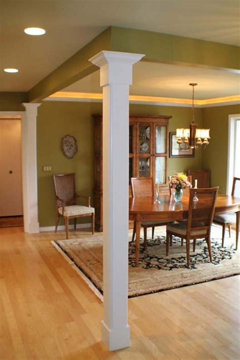 columns in houses interior outstanding vintage dining room decors with square interior columns with grey wall painted