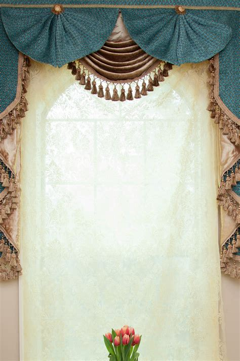 Swag Drapes And Curtains - blue salon swag valances curtain drapes 50
