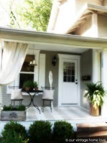 our vintage home love back side porch ideas for summer and an industrial pipe curtain rod how to