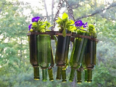 awesome ways  reuse wine bottles   garden