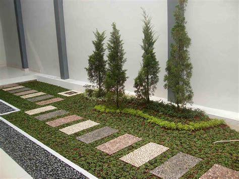 model desain taman minimalis depan rumah  lahan sempit