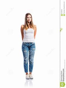 Girl Standing On One Leg And Showing Thumb Up Stock Photography | CartoonDealer.com #74489408