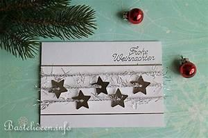 Edle Weihnachtskarten Basteln : karten basteln zu weihnachten glitzersterne weihnachtskarte ~ A.2002-acura-tl-radio.info Haus und Dekorationen