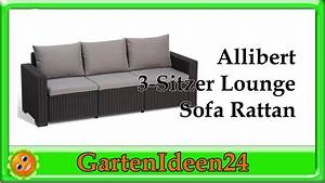 Sofa Für Balkon : allibert 3 sitzer lounge sofa rattan gartenidee kleines relaxsofa aus rattan f r balkon ~ Eleganceandgraceweddings.com Haus und Dekorationen