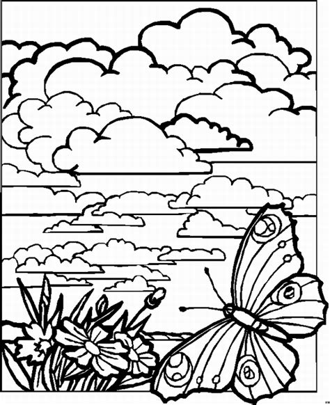 landscape coloring pages    print