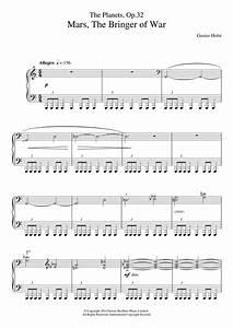 The Planets, Op. 32: Mars, the Bringer of War sheet music ...
