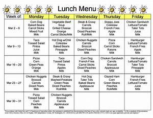 free school lunch menu templates - lunch menu sunshine elementary school