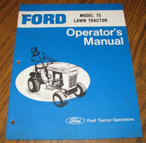 ford model  lawn tractor operators owners manual se