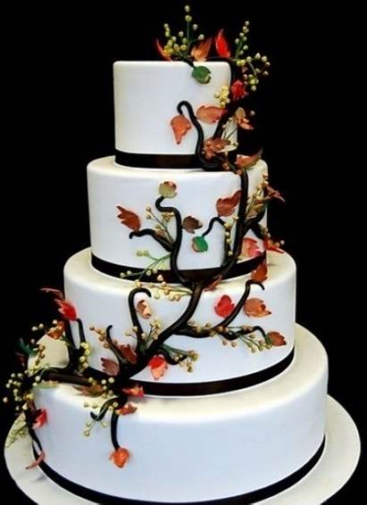 Cakes Cake Fall Awesome Tier Autumn Elegant